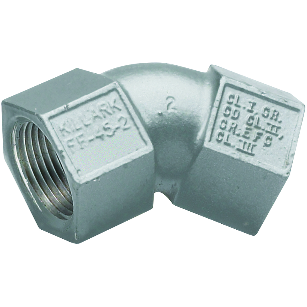 Hubbell Electrical Systems FF-45-3M 1 Inch Zinc Plated Iron Female-to-Female 45 Degrees Conduit Elbow