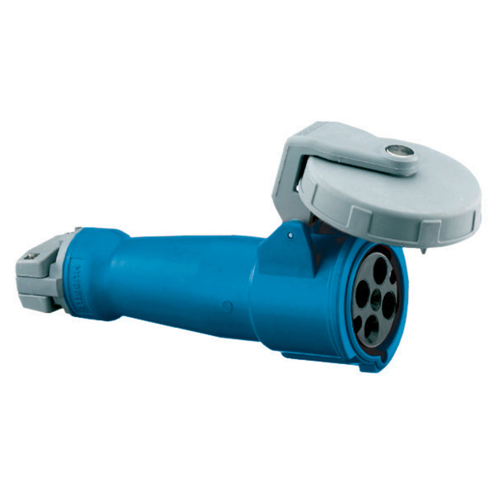 Watertight IEC Pin and Sleeve Connector, 3P4W, 100A 3PH 250V