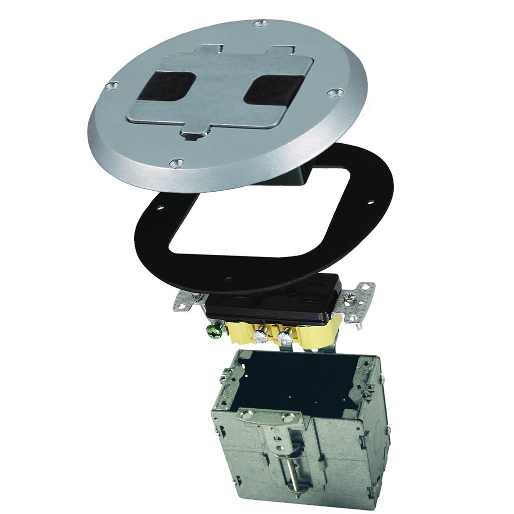 RACO 6239SS RECESSED FLOOR BOX KIT