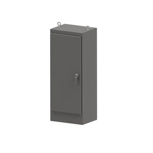 N4X Single Door Freestanding 3-Point Handle 60X24X18 304 Stainless Steel