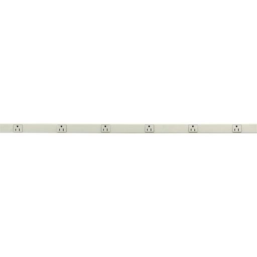 HUBW HBL20GB306IV GY 6RCPT PLGTRAK