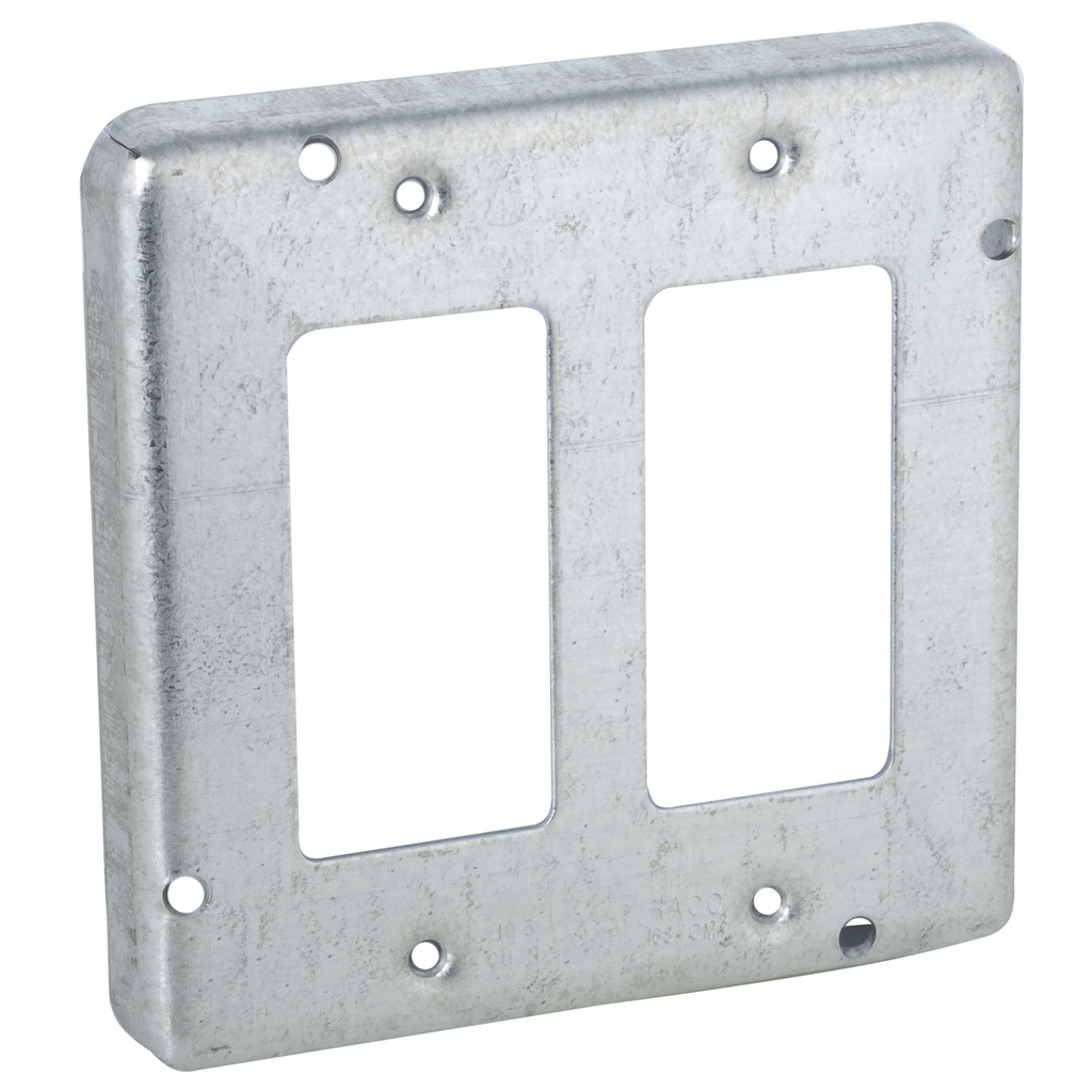 Raco 857 4-11/16 Inch 1/2 Inch Raised 9 In Steel Square Box Cover