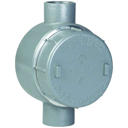 GES SERIES FITTINGS - ALUMINUM - CT TYPE OUTLET BODY - HUB SIZE 1-1/4 IN- VOLUME 42.0 CU IN