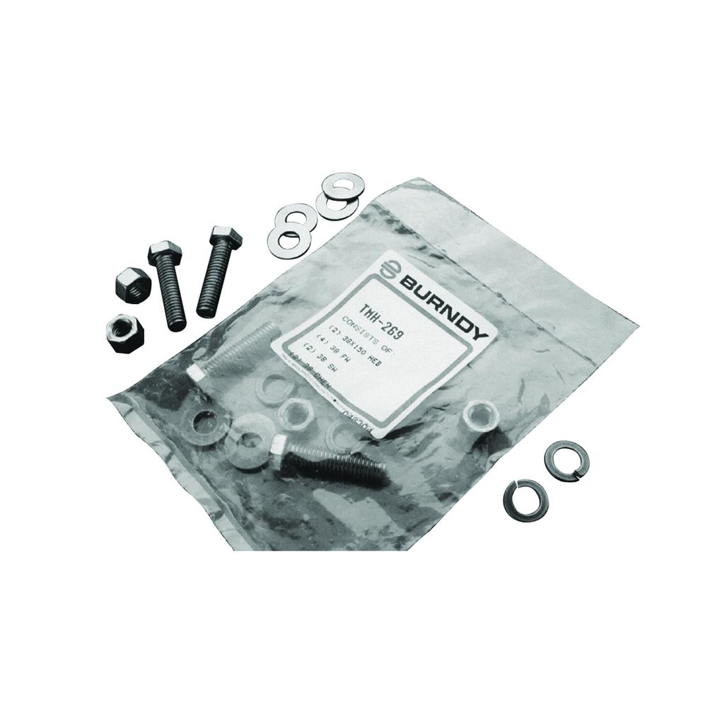 Burndy TMH294 1/2-13 x 1.75 Inch Silicon Bronze Fastening Hardware Kit