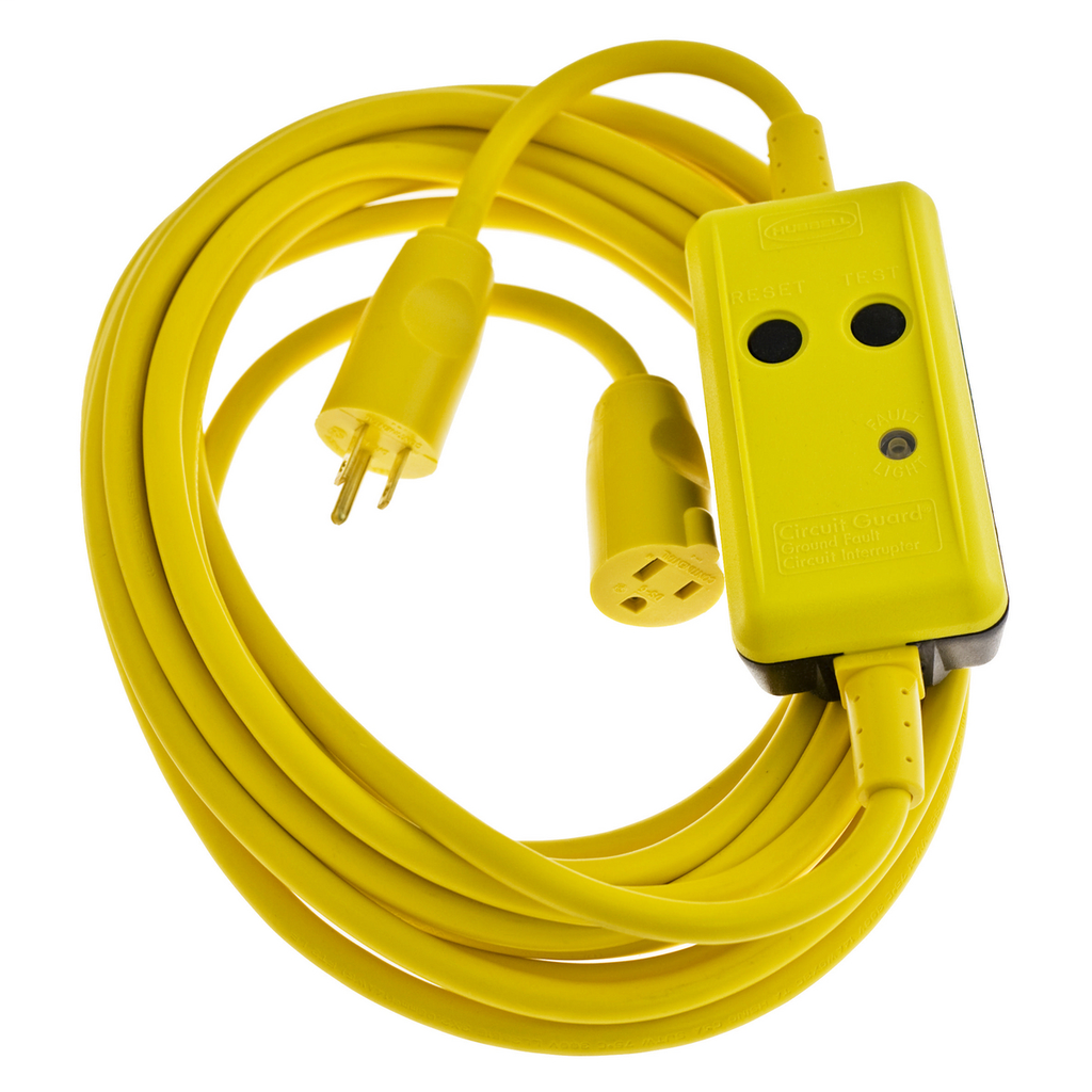 Hubbell Wiring Device-Kellems,GFP25CM,GFCI LINECORD, COMM 15A 120V, 25', MAN