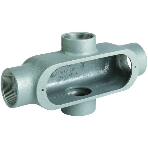 "1/2"" X Hub, Aluminum O Series Conduit Body"