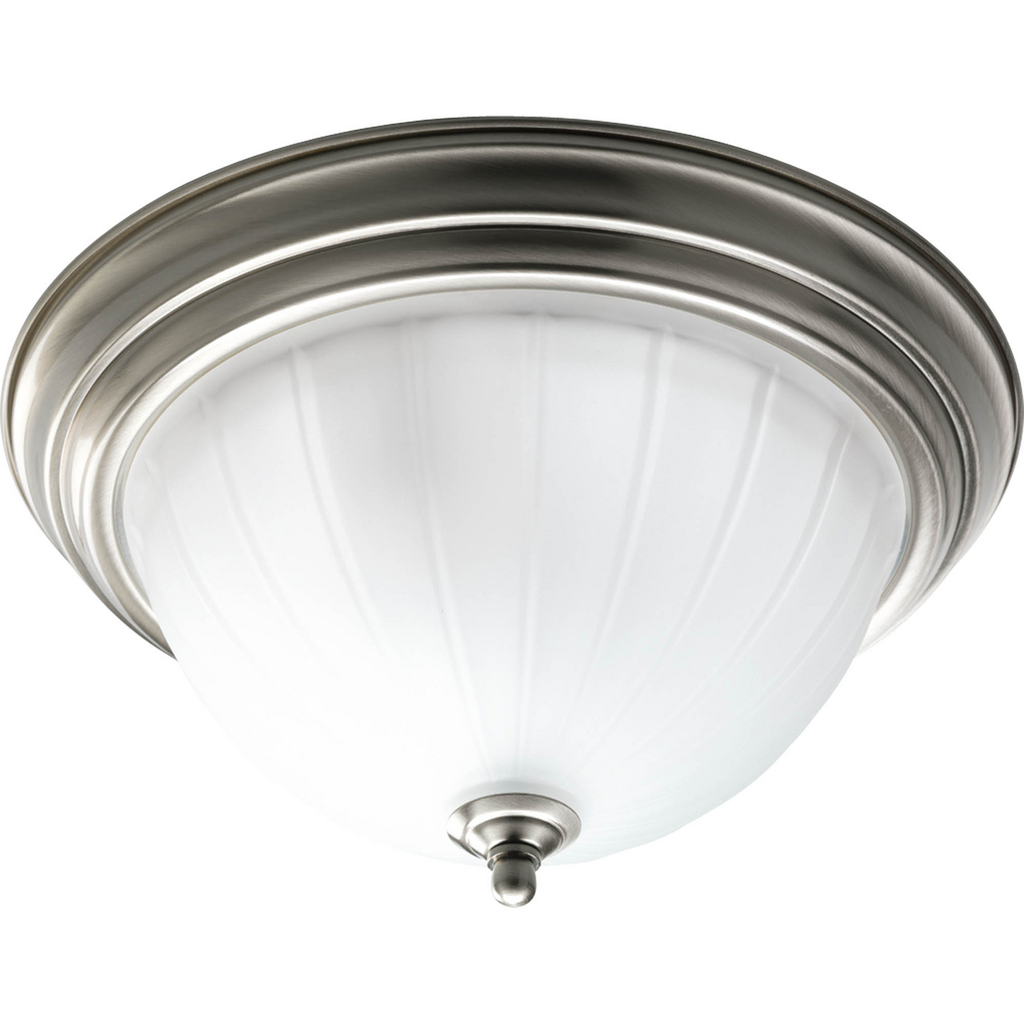 """Two-Light Melon 13-1/4"""" Close-to-Ceiling - P3817-09"""