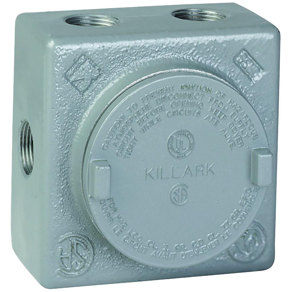 "KILLARK 3/4"" Aluminum GRSS Outlet Body, 7 Internal Hub Config"