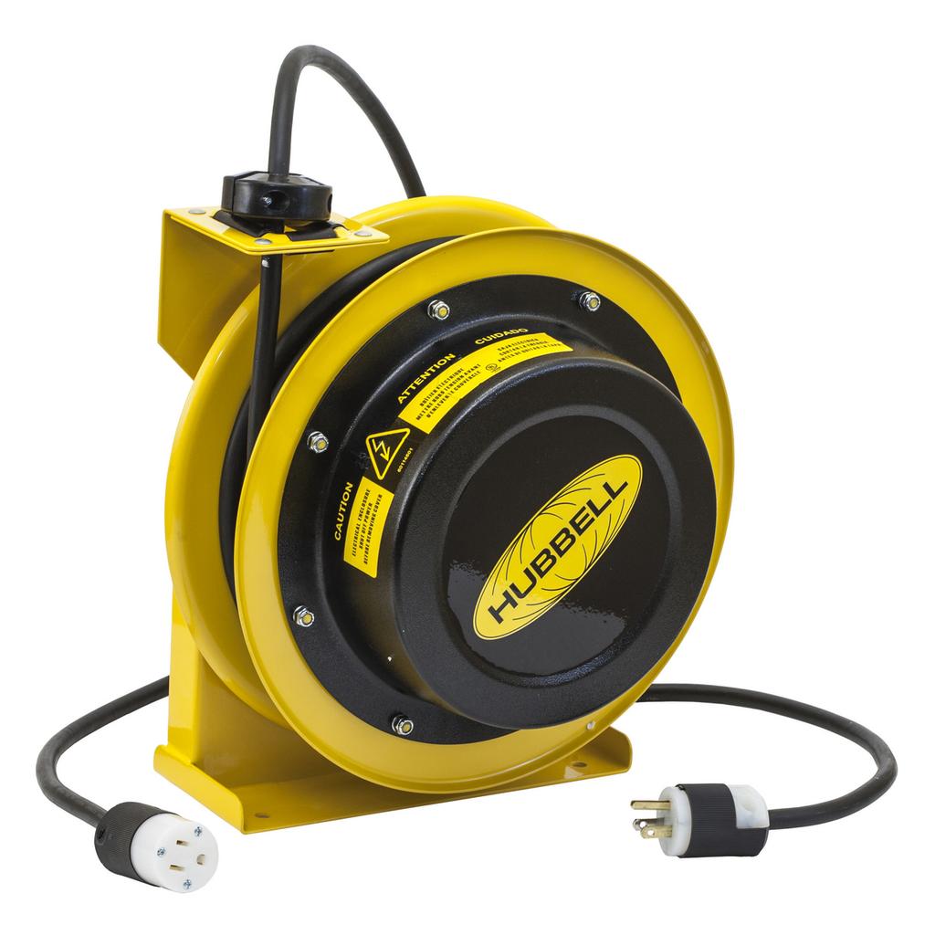 Hubbell Wiring Device-Kellems,HBL45123C,CORD REEL W/HBL5269C, 45' 12/3