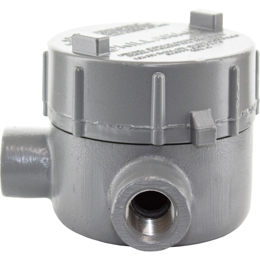 GEC SERIES FITTINGS - IRON - L TYPE OUTLET BODY - HUB SIZE 3/4 IN -VOLUME 18.0 CU IN