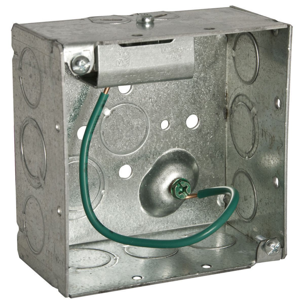 RACO 232S 4 x 4 x 2-1/8 Inch 30.3 In Pre-Galvanized Steel Ceiling/Wall Mount Welded Square Box