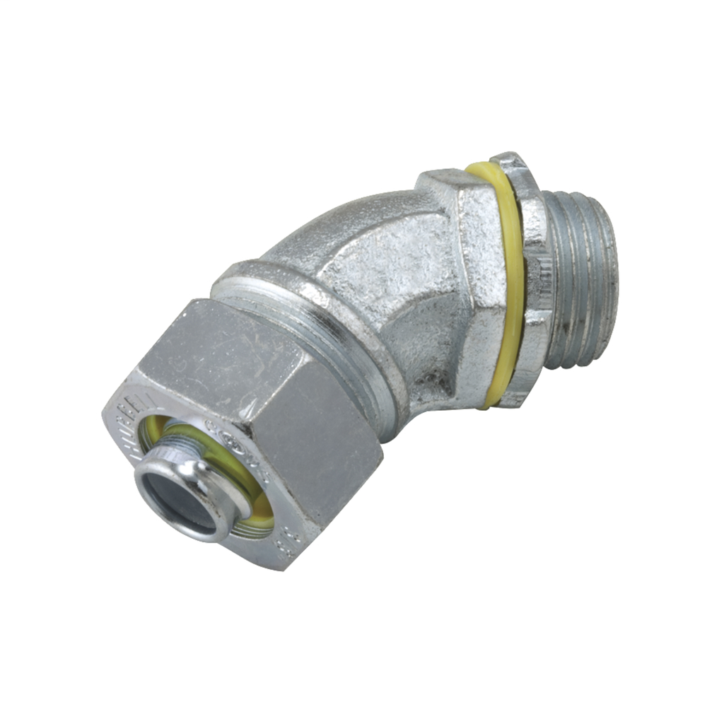 Raco 3443 3/4 Inch Malleable Iron Non-Insulated 45 Degrees Liquidtight Conduit Connector