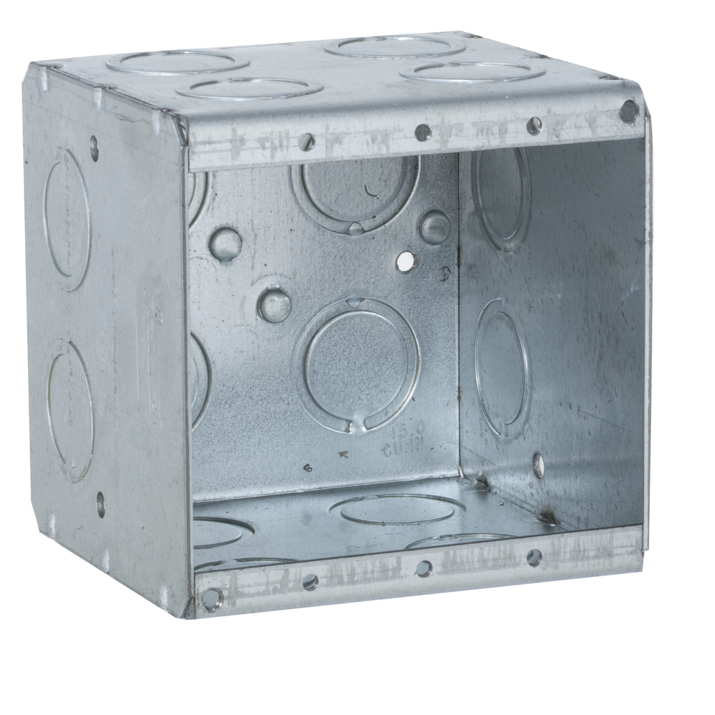 Raco 696 3-3/4 x 3-1/2 x 3-3/4 Inch 44 In Steel 2-Gang Masonry Box