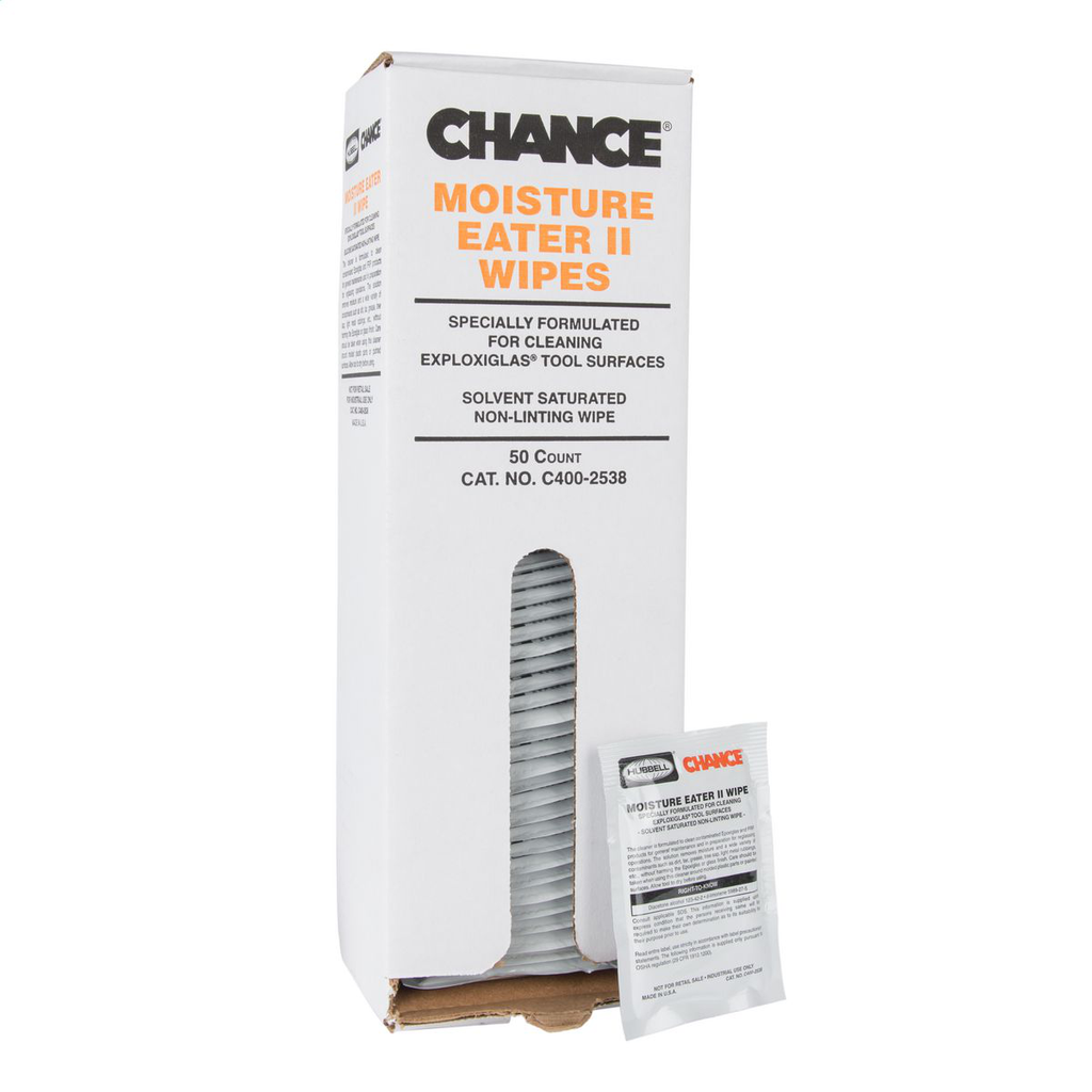 CHANCE C400-2538 WIPES 50 PER BOX(PRICE PER BOX OF 50)(QTY OF 1 GETSA BOX OF 50)