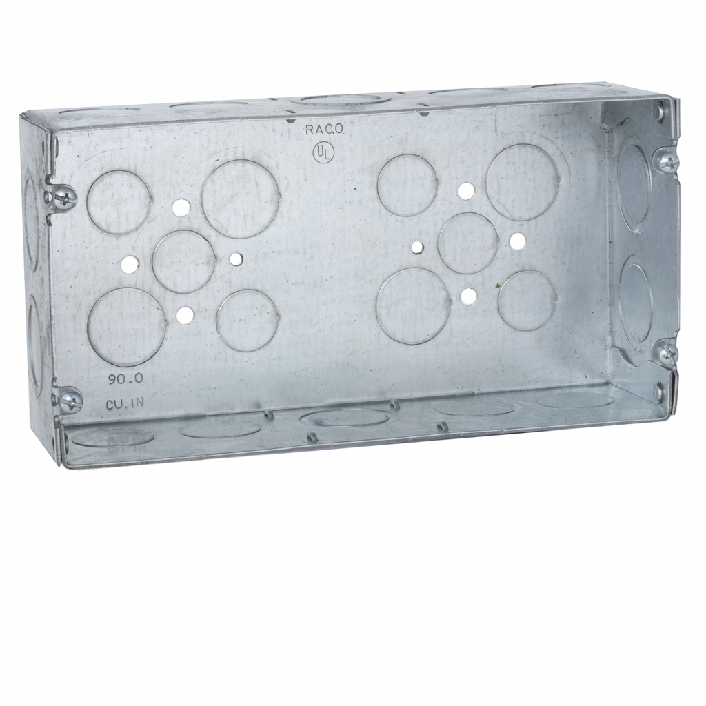 Raco 942 5-5/8 x 2-1/2 x 4-1/2 Inch 90 In Steel 3-Gang Switch Box