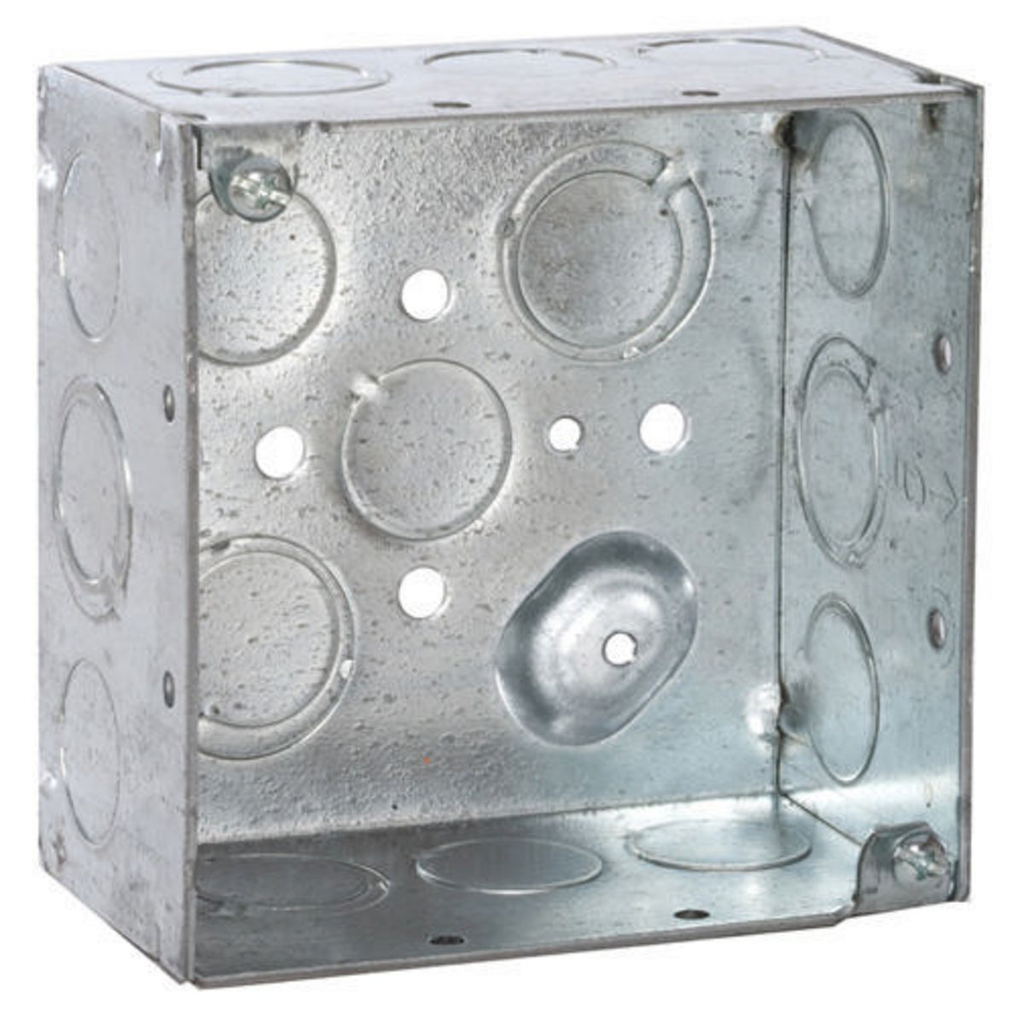 RACO 232 4 x 4 x 2-1/8 Inch 30.3 In Steel Welded Square Outlet Box