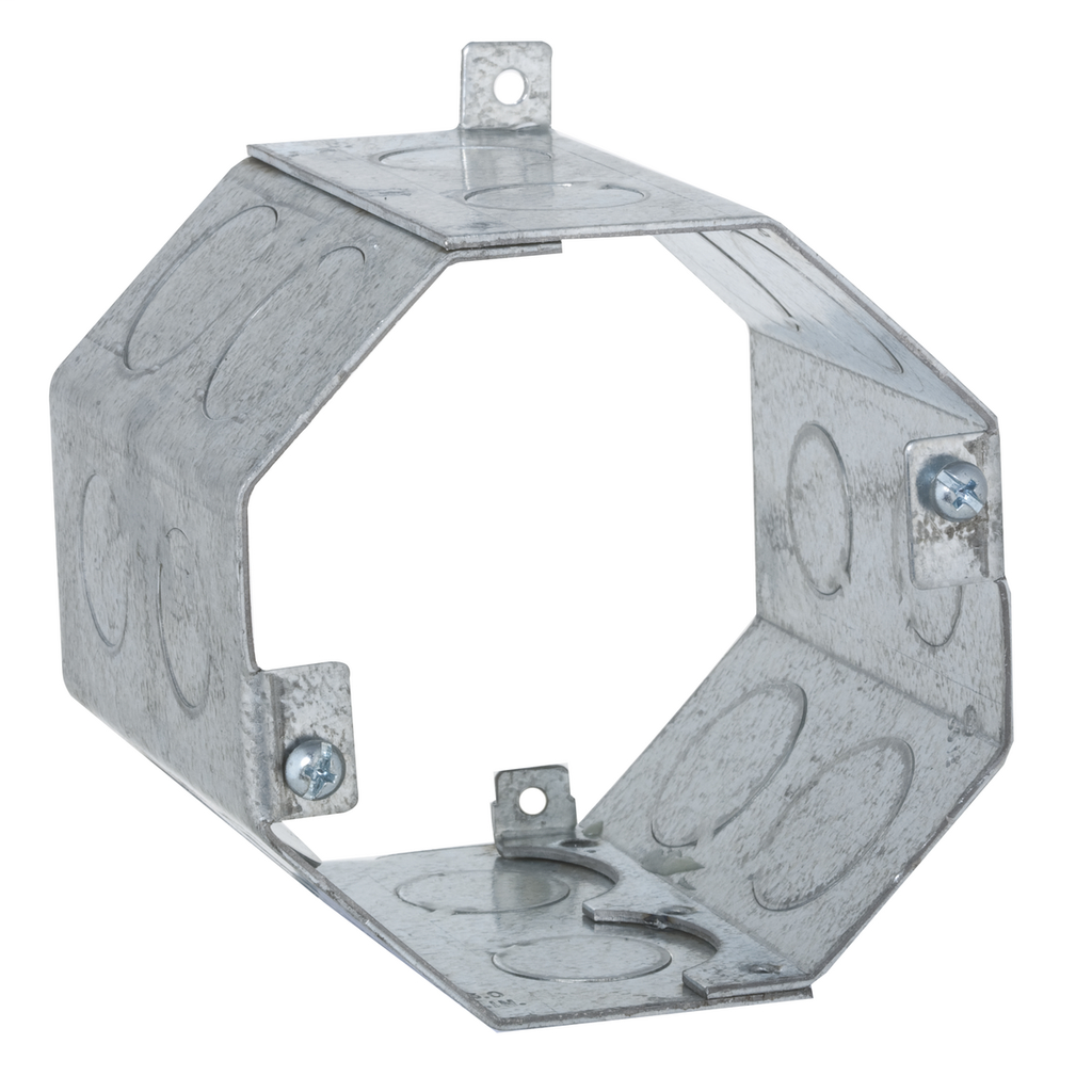 Raco 273 4 x 3-1/2 Inch 43 In Steel Octagon Concrete Box