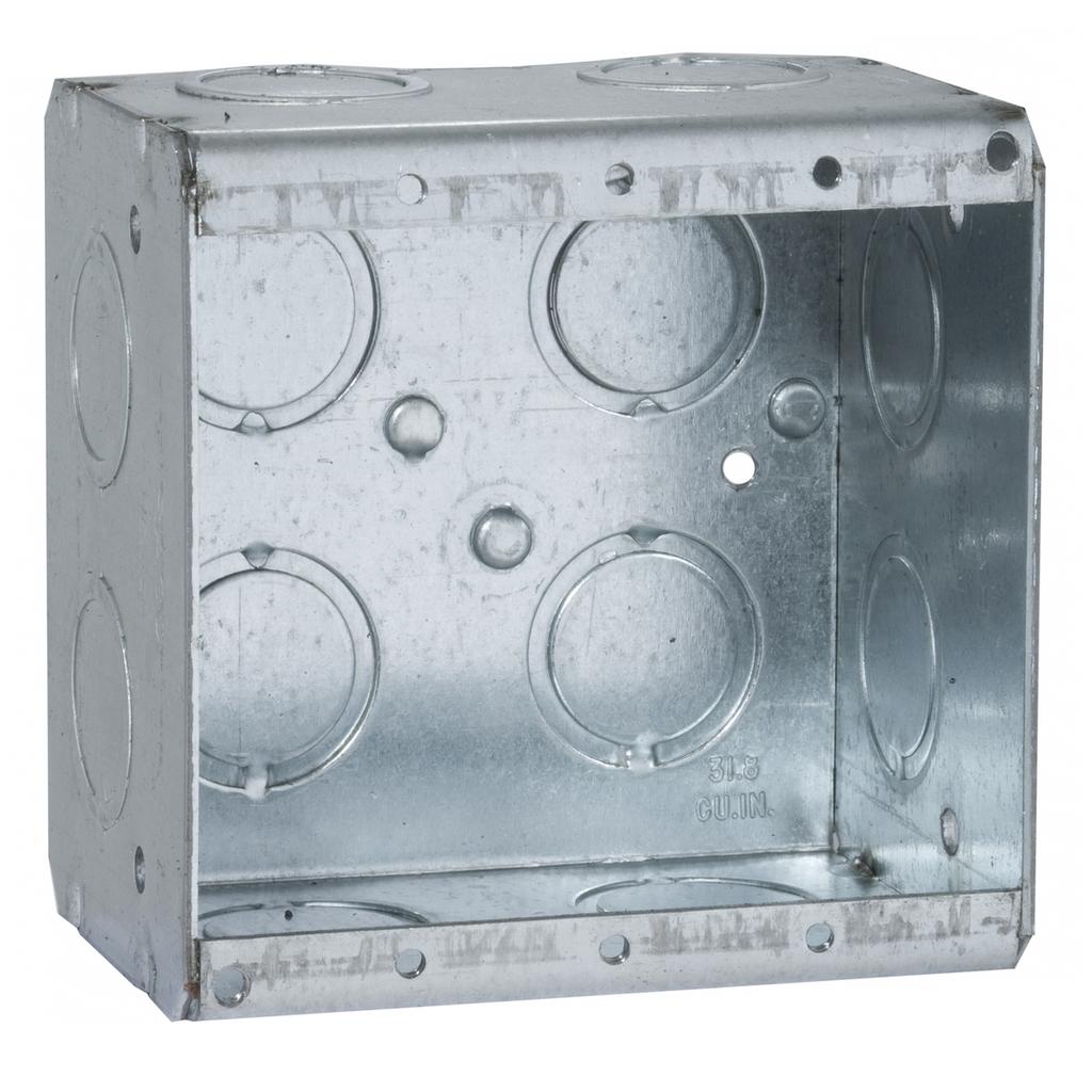 "Raco 691 3-3/4 x 2-1/2 x 3-3/4"" 31"" cu.in. Steel 2-Gang Masonry Box"