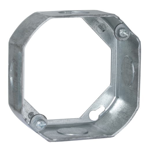 "Raco 128 4"" Steel Octagon Outlet Box Extension Ring"