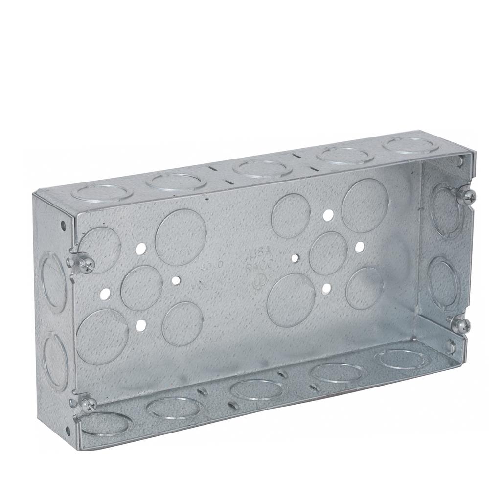 Raco 952 8-5/8 x 1-5/8 x 4-1/2 Inch 58 In Steel 3-Gang Switch Box