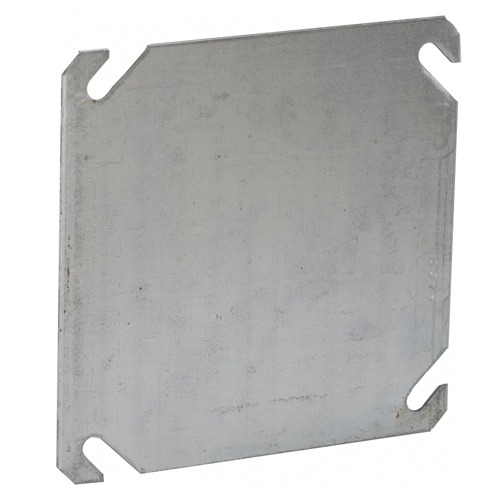 Raco 752 4 Inch Steel Flat Blank Square Box Cover