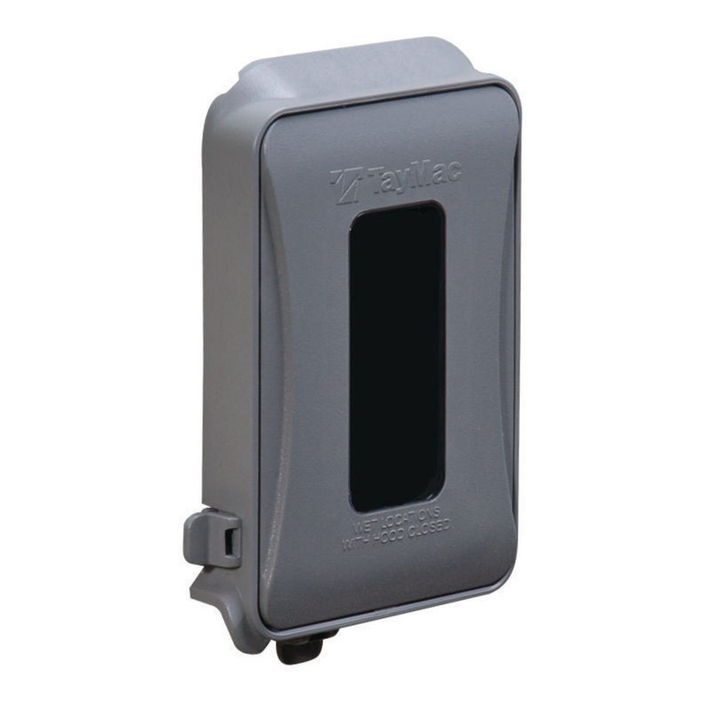 TayMac Corp ML450G 1-Gang Gray Polycarbonate Vertical and Horizontal Mount Flat While-In-Use Device Cover