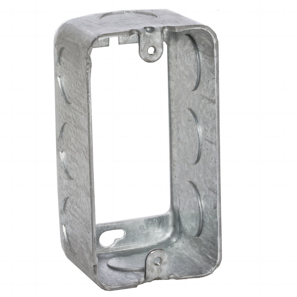 Raco 665 2-1/8 x 4 x 1-7/8 Inch 13 In Steel Utility Box Extension Ring