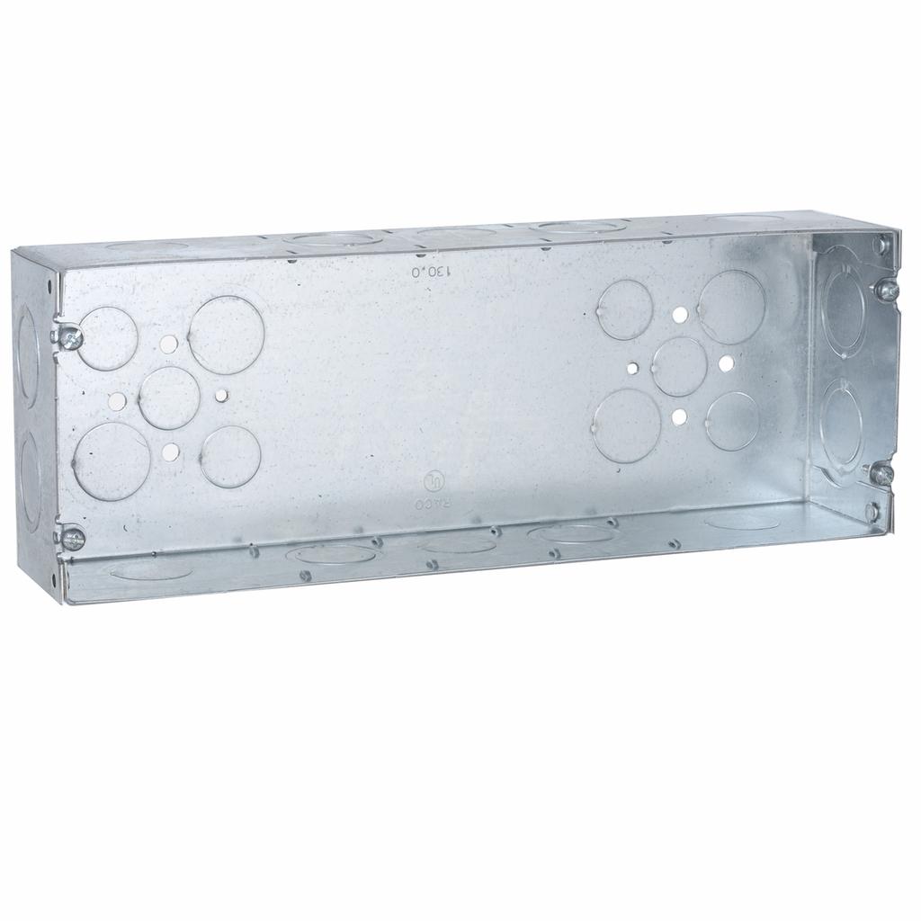 "Raco 944 12-1/4 x 2-1/2 x 4-1/2"" 132"" cu.in. Steel 5-Gang Switch Box"