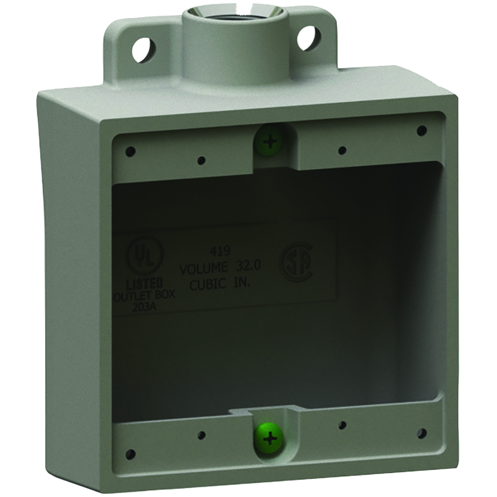 Hubbell Electrical Systems 2FS-2M 3/4 Inch 2-Gang Iron Type 2FS Shallow Cast Device Box with Mounting Lug