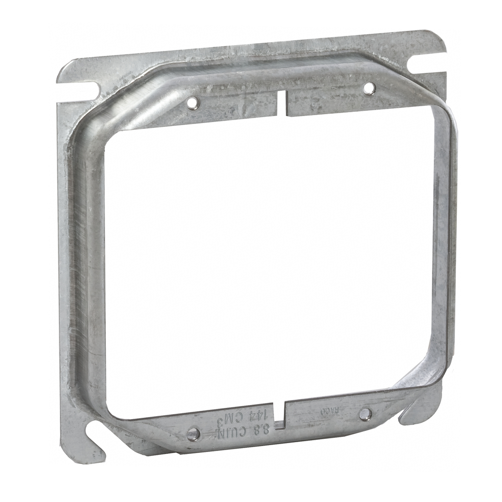Raco 779 3/4 Inch Raised 9 In Steel 2-Device Square Outlet Box Mud Ring