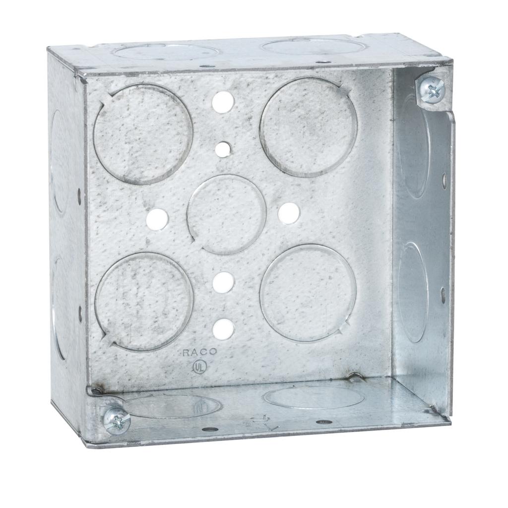 RACO 8231 4SQ BOX WELDED 2-1/8DP 1/