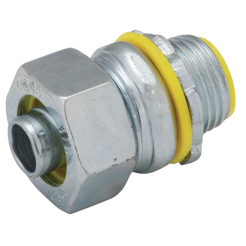 RACO 3513RAC 3/4 Inch Zinc Electroplated Steel Insulated Throat Straight Liquidtight Conduit Connector