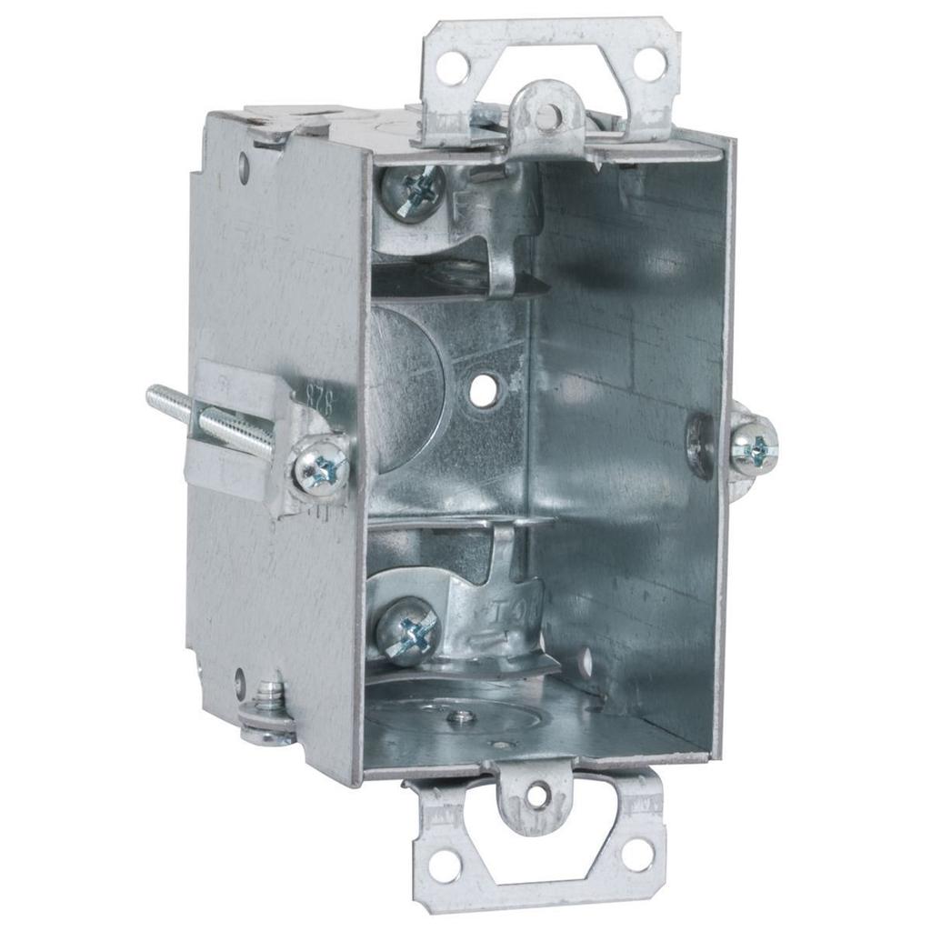 RACO 523 2 x 3 x 2-1/2 Inch 12.5 In Pre-Galvanized Steel Plaster Ear Mount Gangable Switch Box