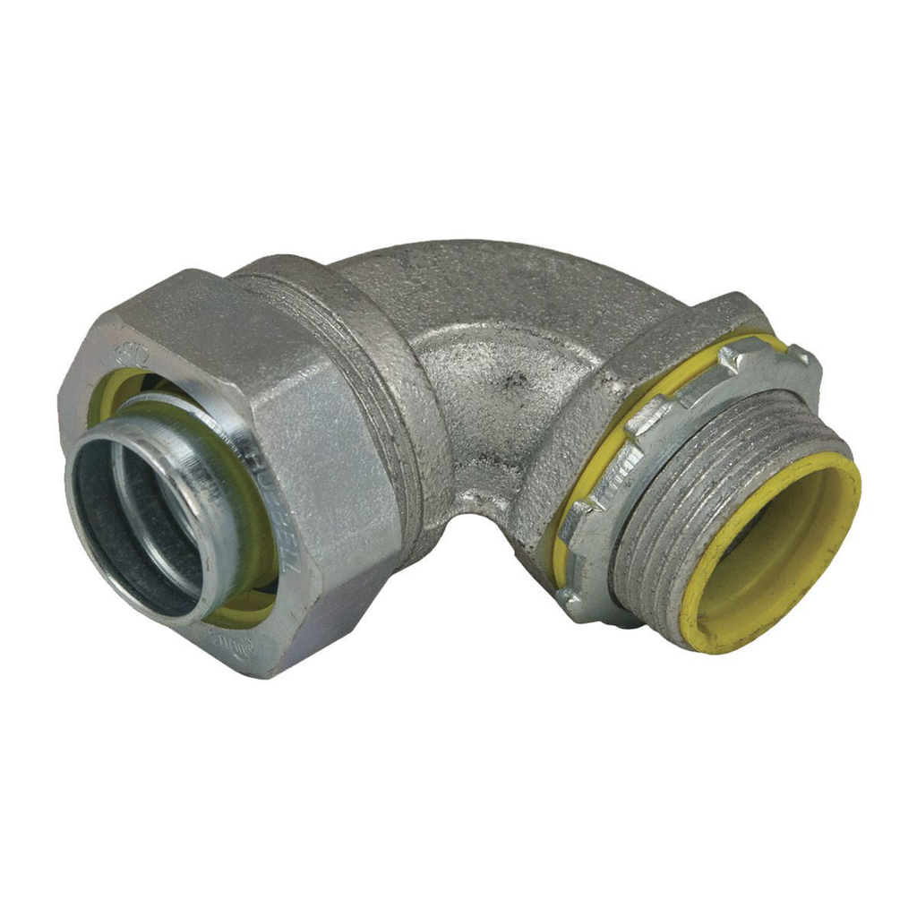 Raco 3542 1/2 Inch Malleable Iron Insulated 90 Degrees Liquidtight Conduit Connector