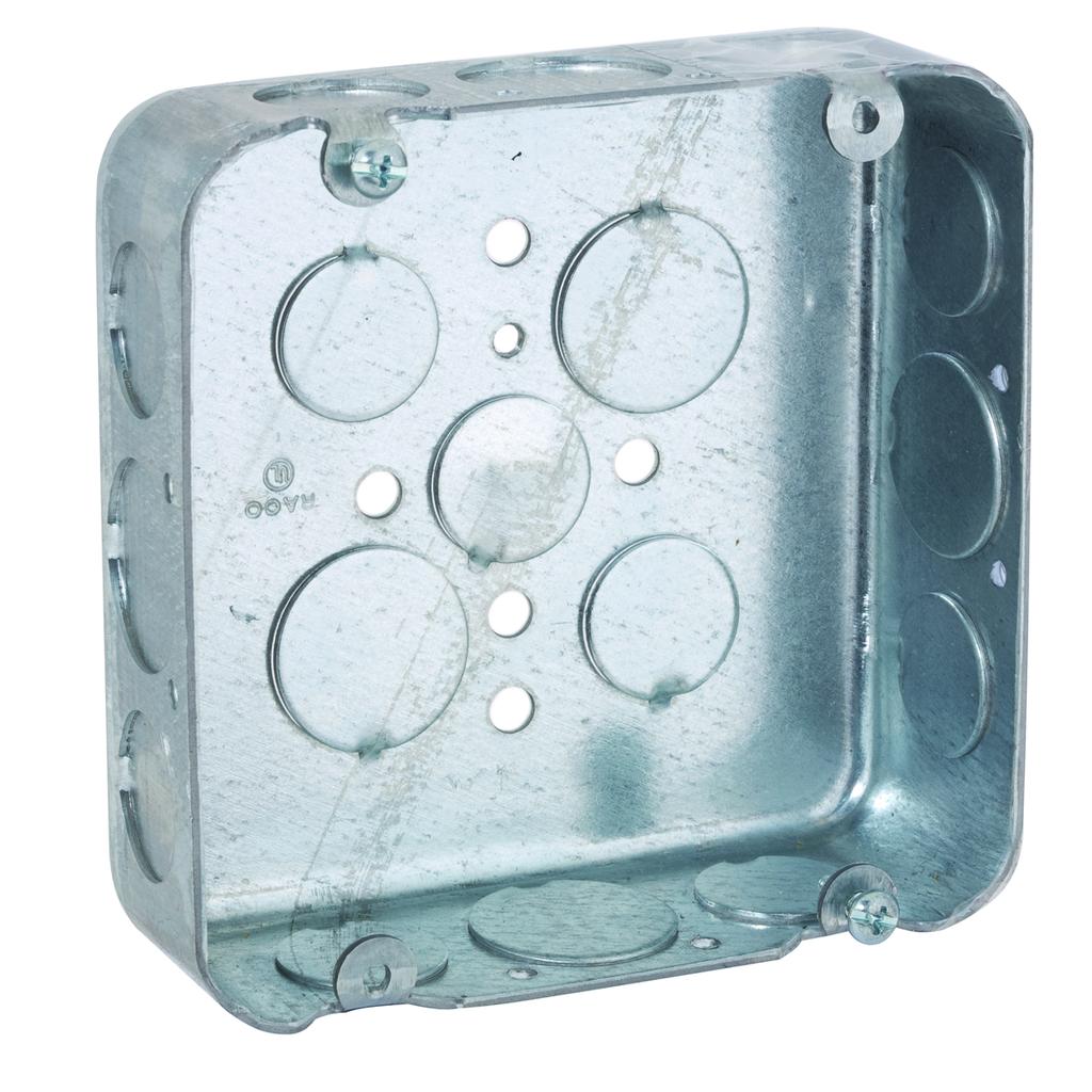 RACO 247 4-11/16 x 4-11/16 x 1-1/2 Inch 29.5 In Pre-Galvanized Steel Screw Mount Drawn Square Box