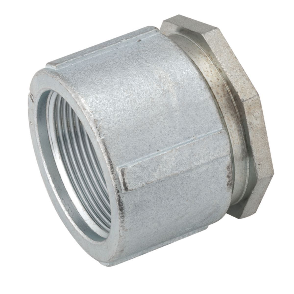 RACO 1512 3 Inch Zinc Electroplated Malleable Iron Threaded 3-Piece Rigid/IMC Coupling