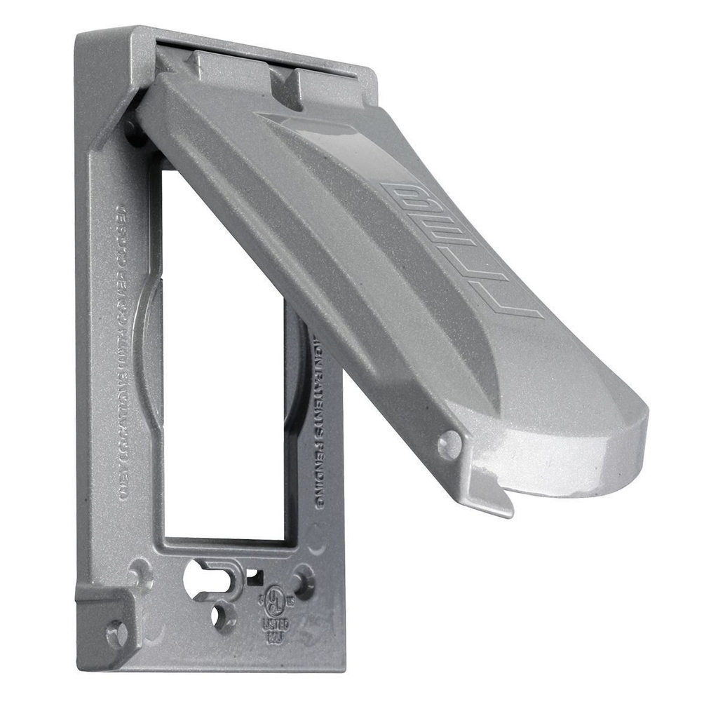 Bell MX1050S 1-Gang Gray Die-Cast Metal Powder Coated Vertical and Horizontal Mount Device Cover
