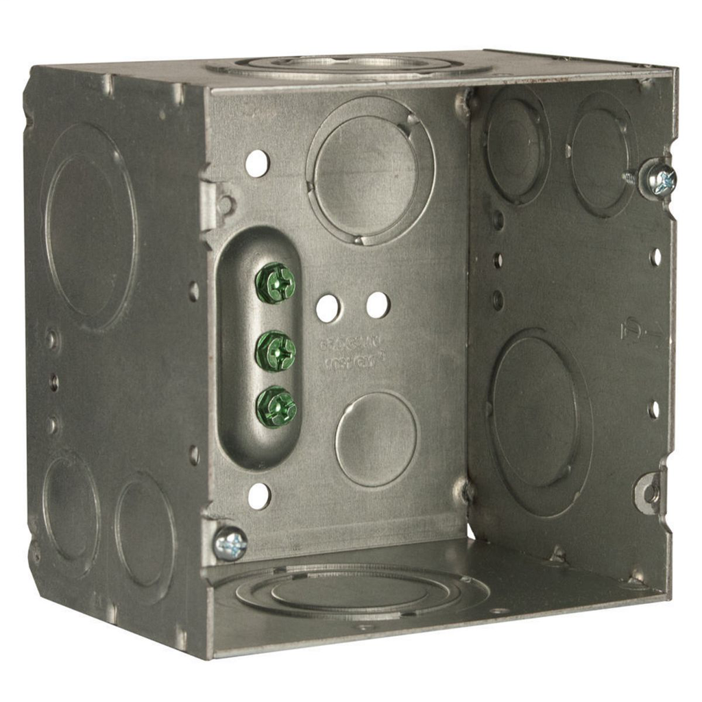 Raco 260 4-11/16 x 4-11/16 x 3-1/4 Inch 66.7 In Pre-Galvanized Steel Raised Ground Mount Welded Square Box