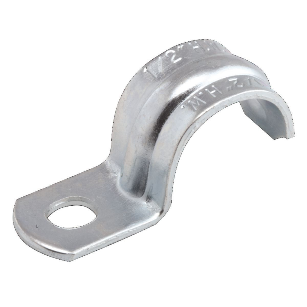 RACO 1336 1-1/2 Inch Zinc Electroplated Stamped Steel 1-Hole Push-On Rigid/IMC Strap