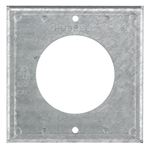 HUBW HBL50SC SQ COVER PLATE FOR 50A