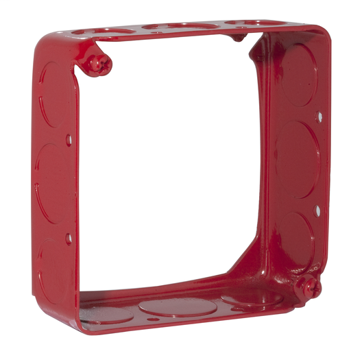 Hubbell-Raco 911-3 2 Gang 4-Inch Life Safety Flat Red Cover