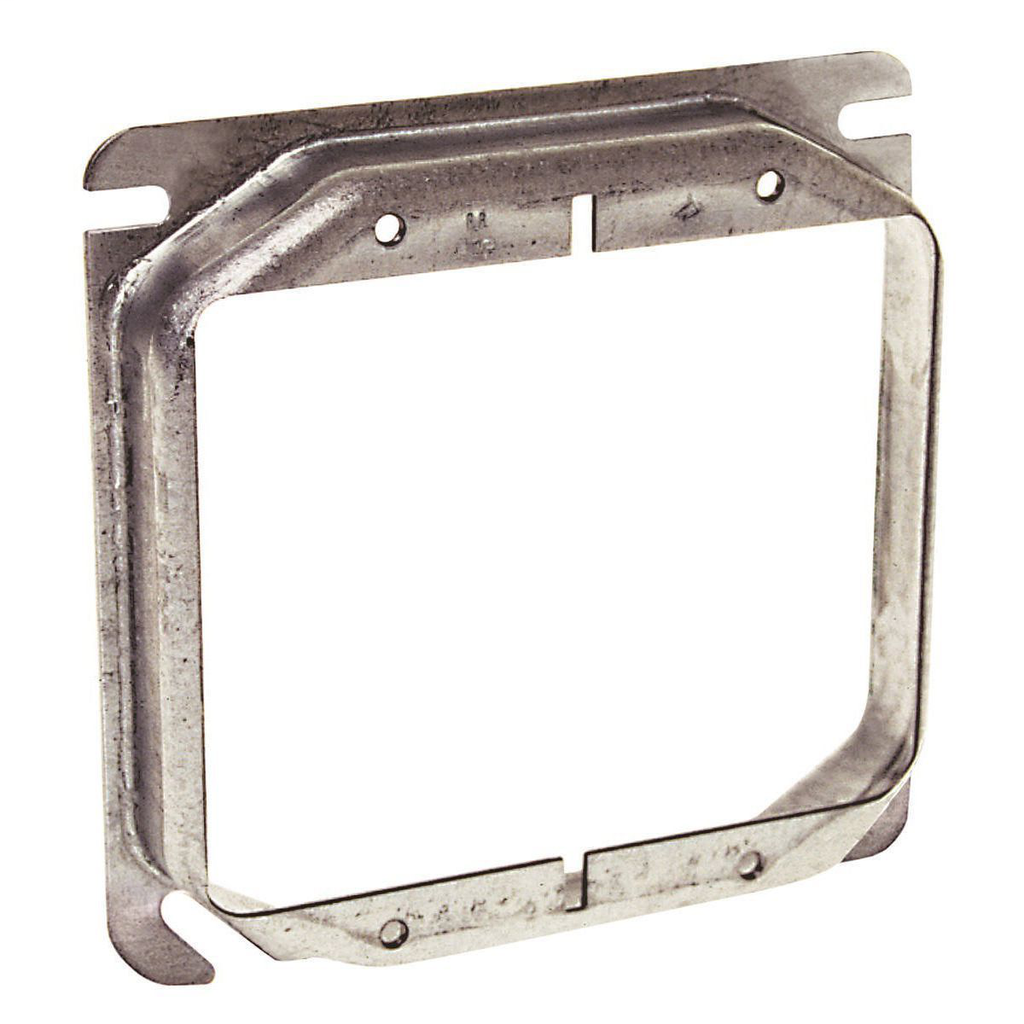 Raco 769 5/8 Inch Raised 8 In Steel 2-Device Square Outlet Box Mud Ring