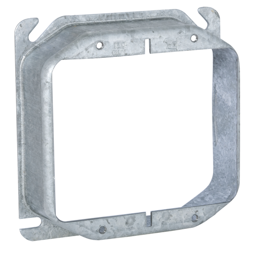 "Raco 781 1-1/4"" Raised 14"" Steel 2-Device Square Outlet Box Mud Ring"