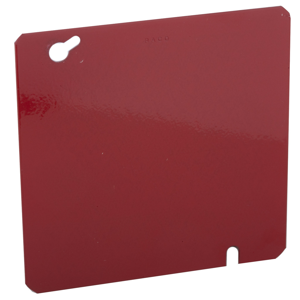 RACO 911-11 4-11/16 Inch Red Pre-Galvanized Steel Flat Blank Mud Ring Square Box Cover