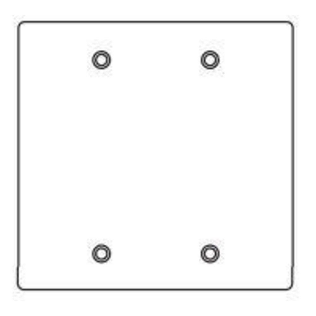 Hubbell Electrical Systems 2FBC 2-Gang Coated Blank Cover