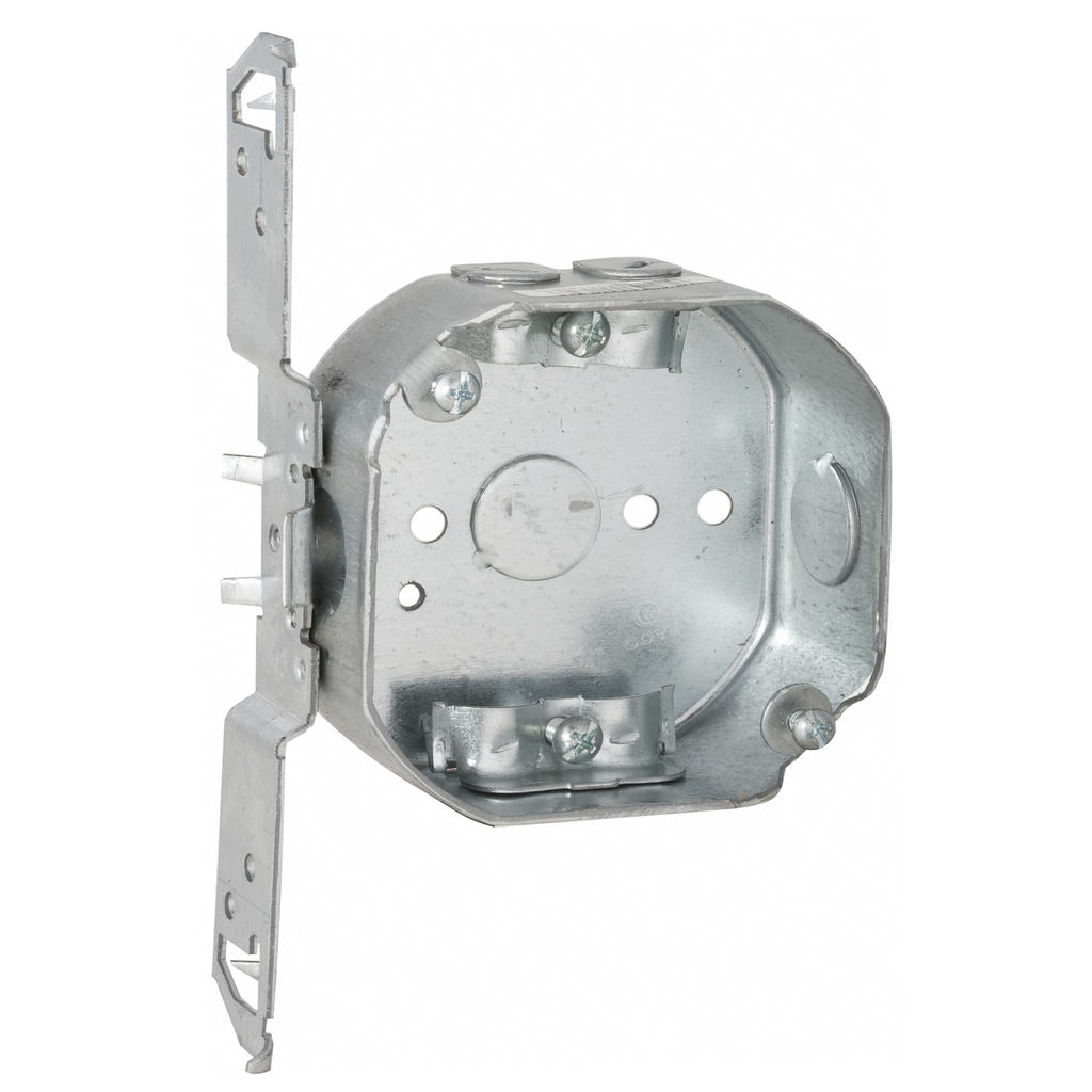 Raco 164 4 x 4 x 1-1/2 Inch 15.5 In Pre-Galvanized Steel TS Bracket Mount Drawn Octagon Box