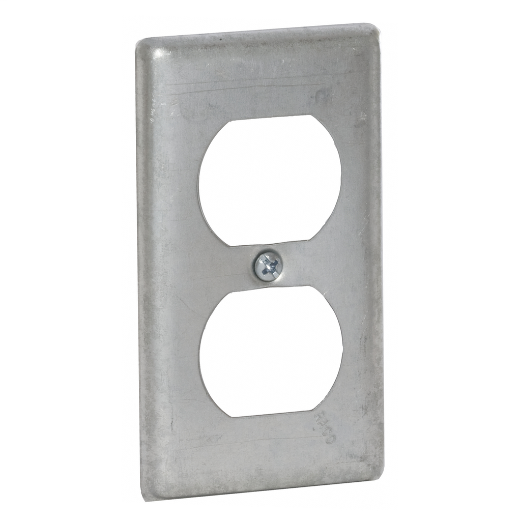 Raco 864 Steel Duplex Receptacle Utility Box Cover