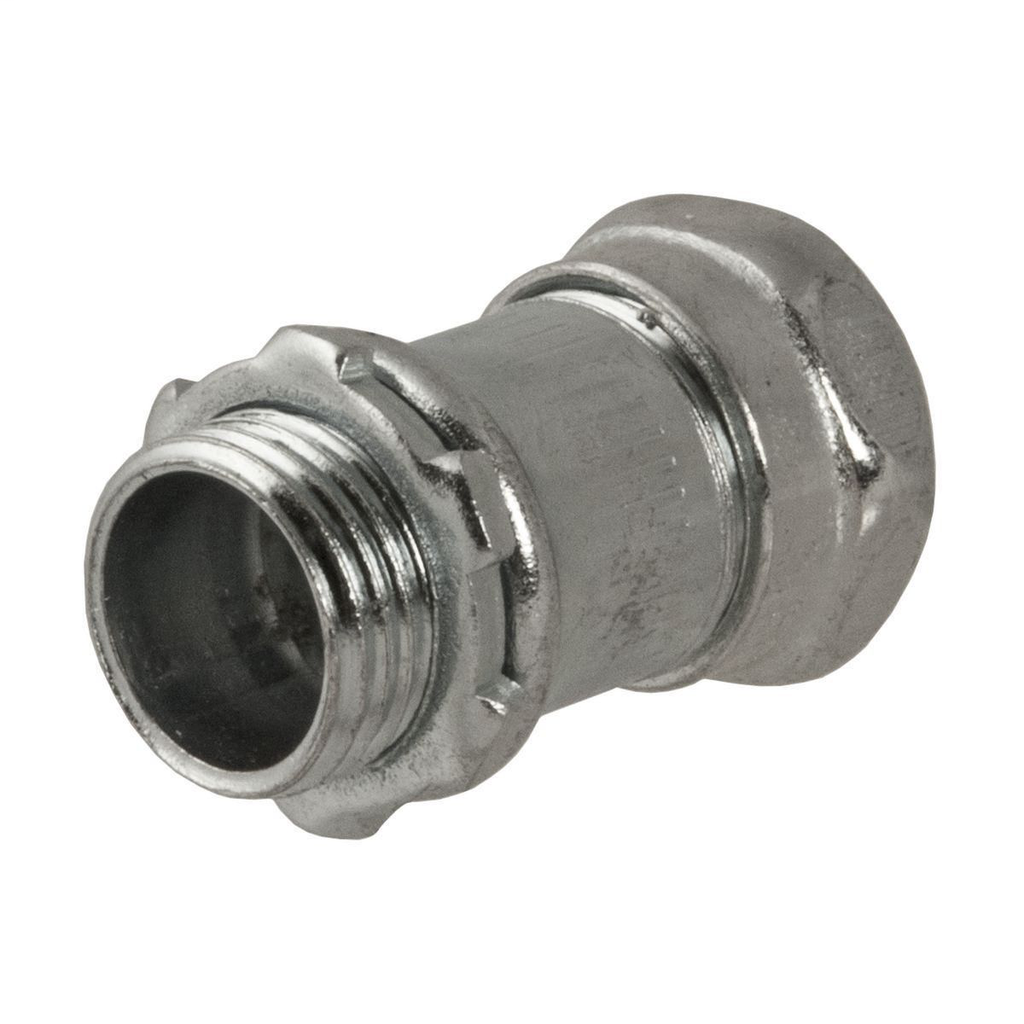 Raco 2903 3/4 Inch Steel Non-Insulated Compression Straight EMT Connector