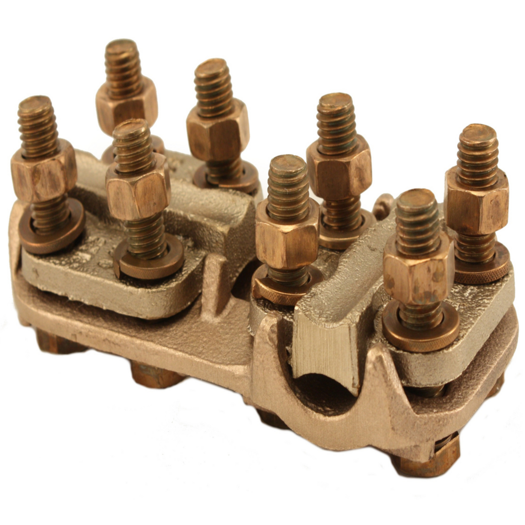 Burndy NSNT3429 3/8 Inch 1/0 AWG to 500 MCM Run 6 AWG to 250 MCM Tap Copper Standard Cable to Cable T-Connector