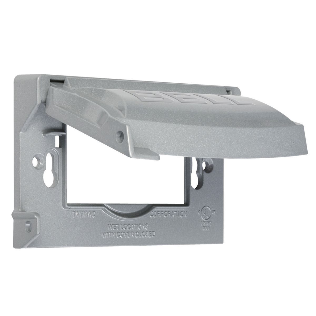 Bell MX1250S 1-Gang Gray Die-Cast Metal Powder Coated Horizontal and Vertical Mount Device Cover